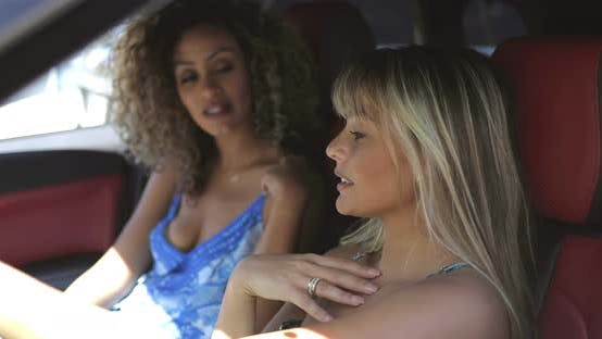Thumbnail for Laughing Girls Driving Car in Summer