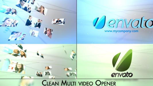 Thumbnail for Simple Clean Multi Vídeo Logo