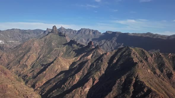 Thumbnail for Aerial of Bentayga and Nublo Rock in Caldera Tejeda, Gran Canaria