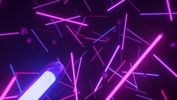Thumbnail for Neon Tubes VJ Loop