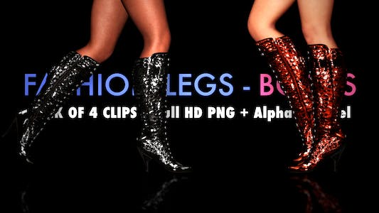 Thumbnail for Fashion Legs - Fancy Boots - Pack of 4