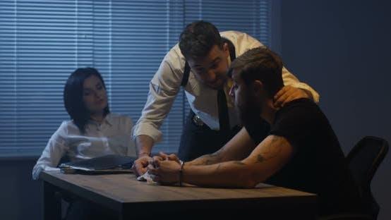 Thumbnail for Violent Policeman Interrogating Criminal About Drugs