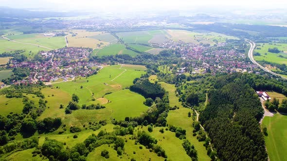 Thumbnail for Aerial view of Baden-Wurttemberg Zollernalbkreis Germany