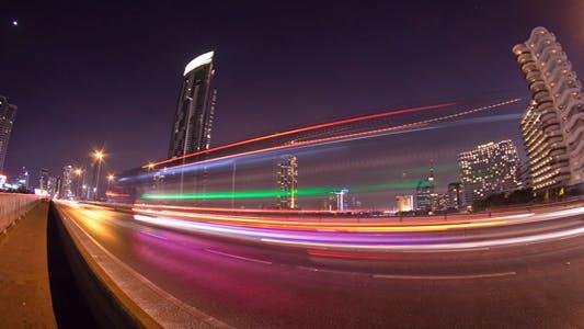 Thumbnail for Light Streaks Over Bridge Traffic 2 Pack