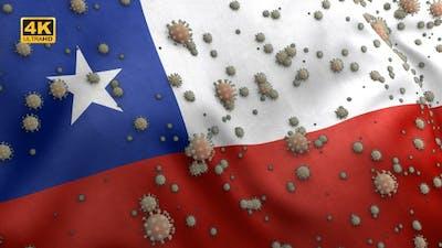 Covid Chile Flag / Corona Chile Flag - 4K