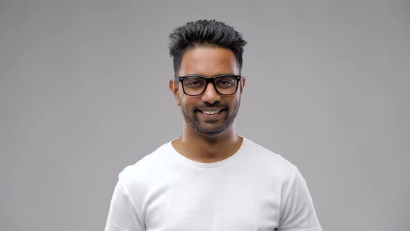 Thumbnail for Happy Indian Man in Eyeglasses or Student 15