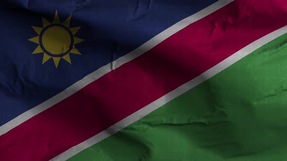 Namibia Flag Textured Waving Background 4K