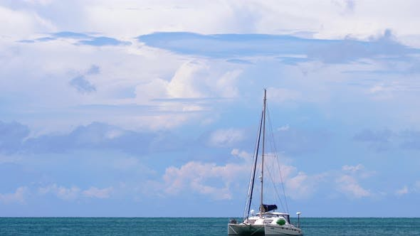 Luxury Catamaran Anchored