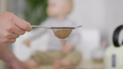 Sieving Cocoa Powder