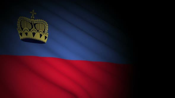 Thumbnail for Liechtenstein Flag Blowing in Wind