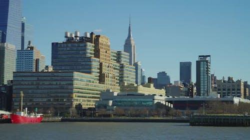 Buildings along Hudson River