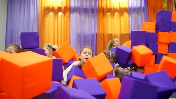 Thumbnail for Children's Playroom, Play with Foam Cubes