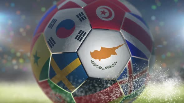 Thumbnail for Cyprus Flag on a Soccer Ball - Football in Stadium