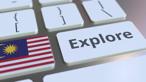Thumbnail for EXPLORE Word and Flag of Malaysia on the Keyboard