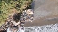 Sea Near the Coast  Closeup Aerial View of the Coastal Seascape