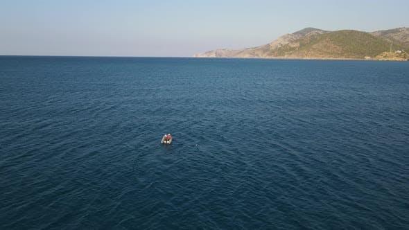 Mediterranean Boat Fisherman Blue Ariel