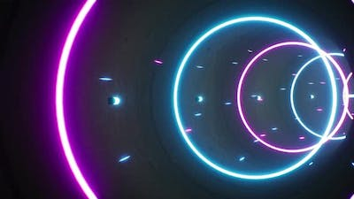 Neon Color Particles Tunnel 4K