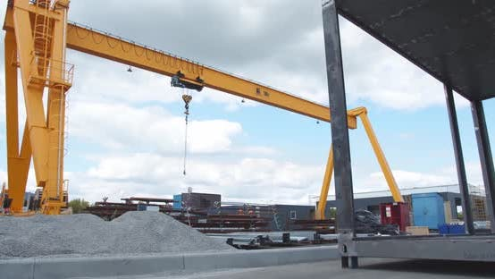 Thumbnail for Massive Crane for Containers in a Port, Heavy Machinery,