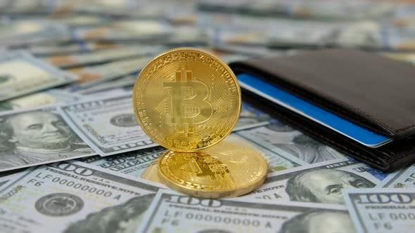 Thumbnail for Cryptocurrency of Bitcoin and Dollars