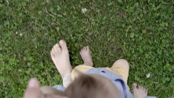 Thumbnail for POV of Mother Teaching Toddler to Walk