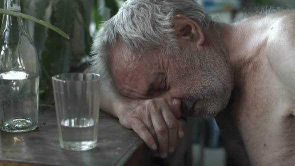 Drunkard Sleeping at the Table