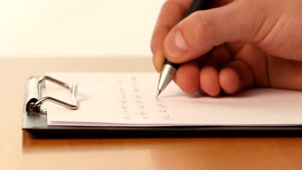 Thumbnail for Hand Writing a Message