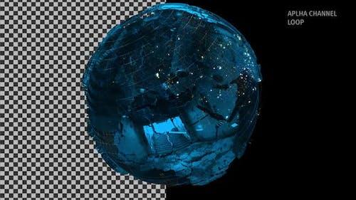 Digital Metal Globe Alpha