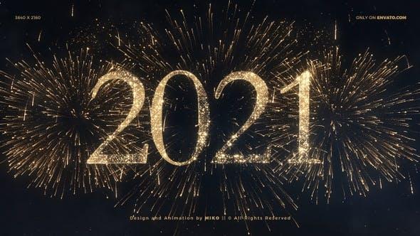Thumbnail for Feuerwerk zum neuen Jahr 2021 4K