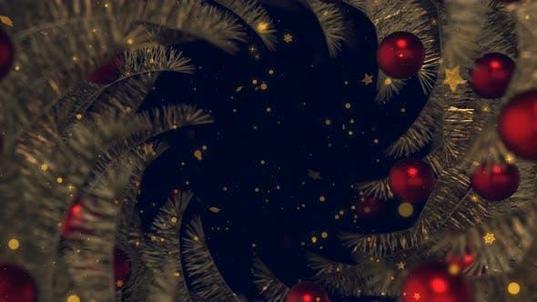 Thumbnail for Christmas Ball and Snowflakes Frame