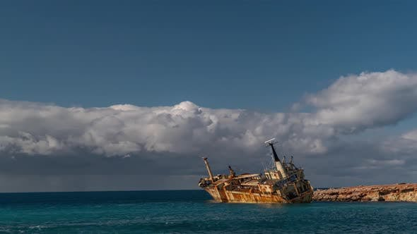 Shipwreck Off the Coast of Cyprus