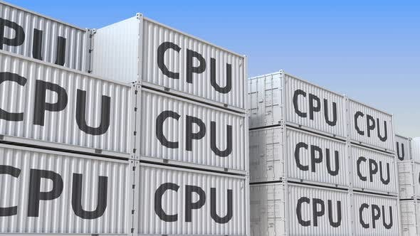 Thumbnail for Cargo Containers with Computer CPUs