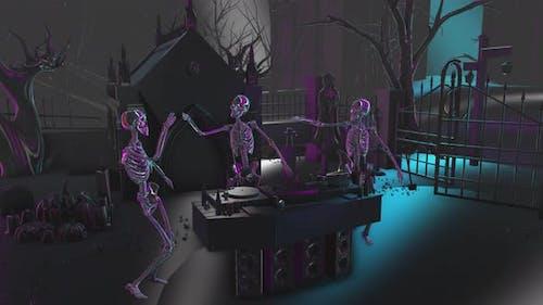 4K Dark chrome skeletons