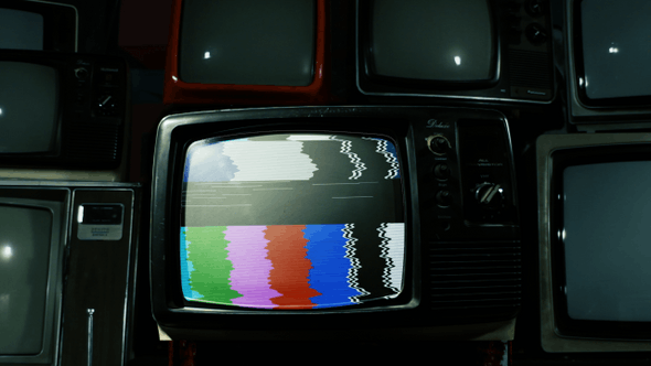 Mysterious Retro TV with Alpha Channel.
