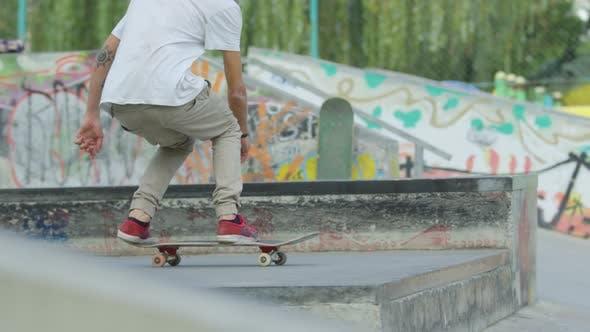 Thumbnail for Skateboarder doing a flip jump