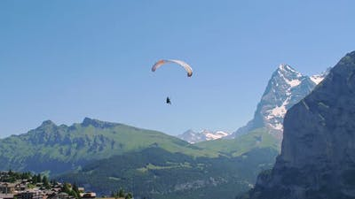 Paraglide In The Sky