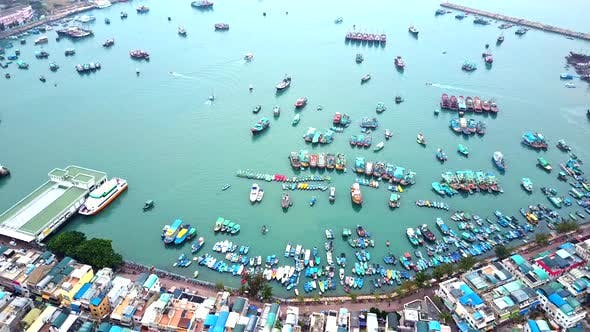 Thumbnail for Top view of Cheung Chau island in Hong Kong