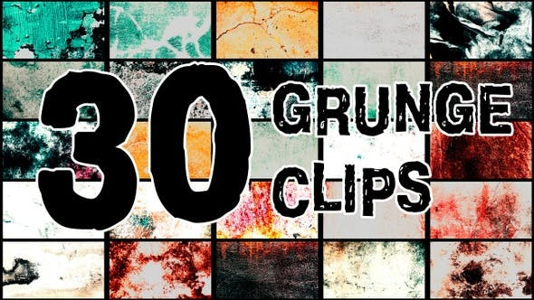 Thumbnail for Grunge Clips Pack