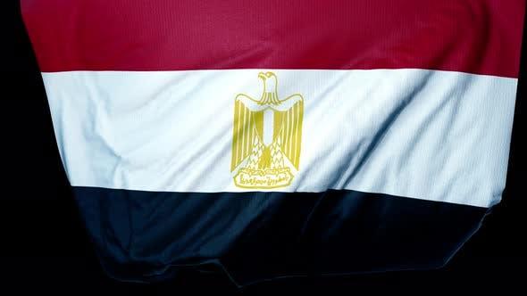 Ägypten Unfloding Flagge