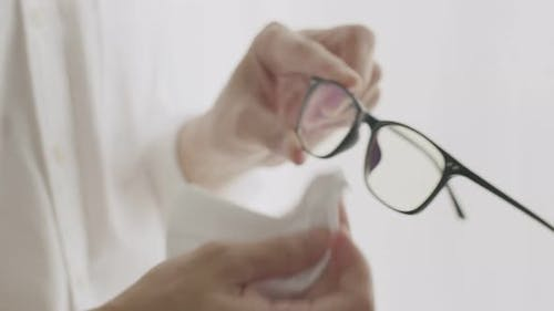 Cleaning glasses first after wearing glasses.