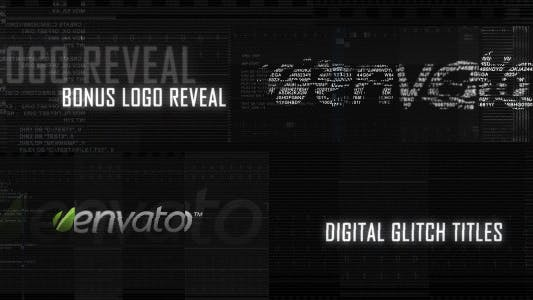 Thumbnail for Digital Glitch Titles and Logo Reveal