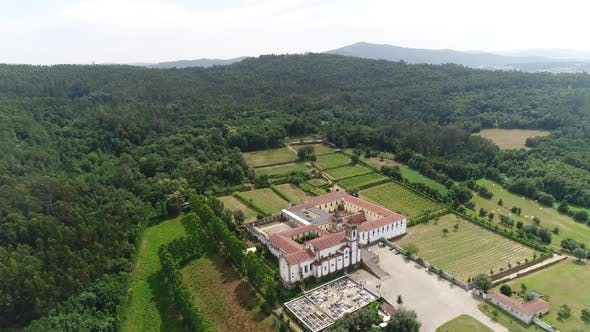 Thumbnail for Aerial Footage Of Ancient Monastery and Cemetery