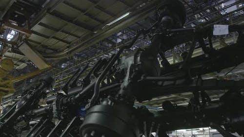 Production process of heavy mining trucks
