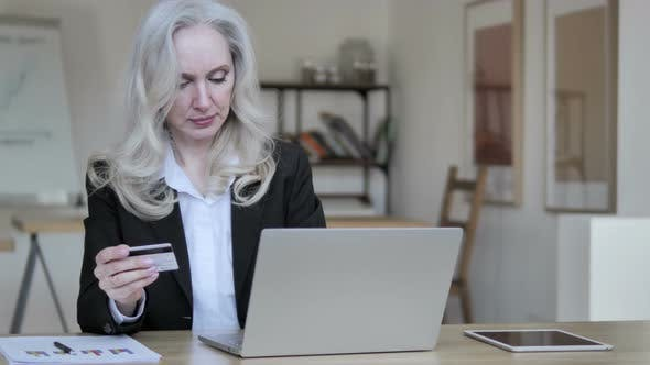 Thumbnail for Online Shopping Failure for Old Businesswoman