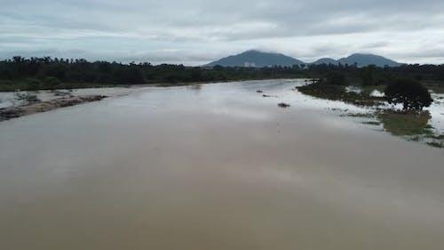 Flood happen at river Sungai Junjung