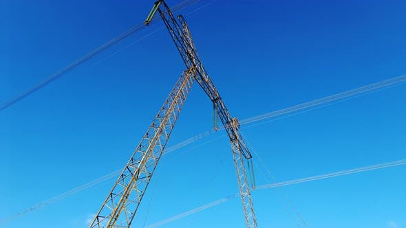 High Voltage Electric Tower With Insulators