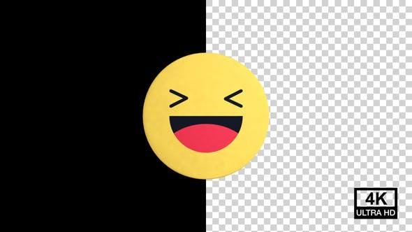 Haha Facebook Reaction Emoji 4K