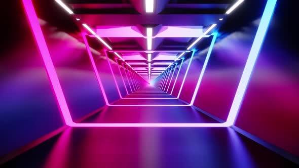 Retro computer game interior