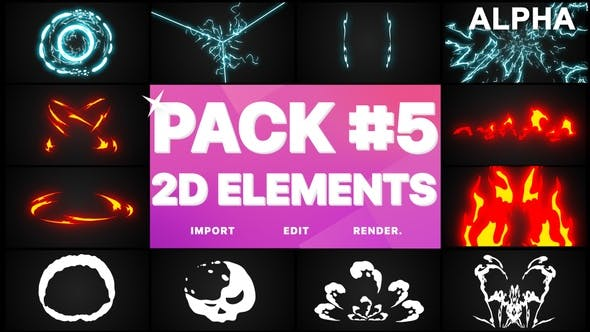 Thumbnail for Elements Pack 05 | Motion Graphics Pack