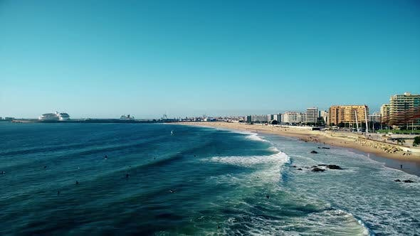 Thumbnail for White Sea Waves and Beach Shore in Portugal