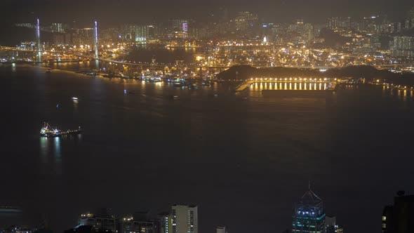 Thumbnail for Hong Kong City at Night Time Lapse China